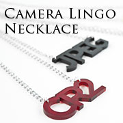 Camera Lingo Necklaces